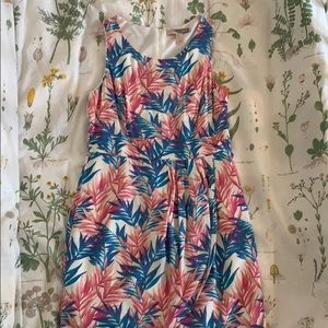 M Forever21 Tropical leaves dress